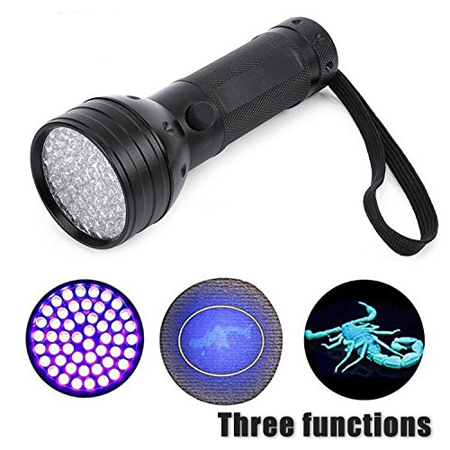NewVan Tech UV Ultraviolet Flashlight Blacklight, 51 LED 395 nM Handheld Portable Black light Pet Urine and Stain Detector Flashlights (Blacklight Handheld)