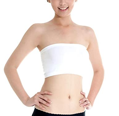 8c33b888ca Qingsun Women s Tube Bra Seamless Soft Bandeau Bra Boob Tops Vest Strapless  Without Padding White
