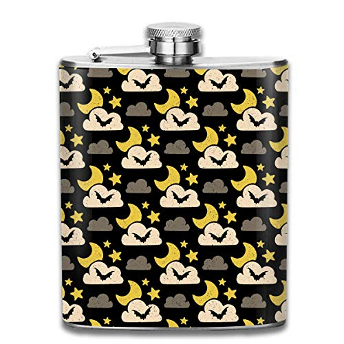 Hhill Swater Halloween Nocturnal Bat Stainless Steel Flask