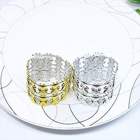 MARGUERAS 100pcs servilleteros de mesa Navidad servilletero anillo Diamante Decoración Navidad Boda, dorado, 100PCS: Amazon.es: Hogar