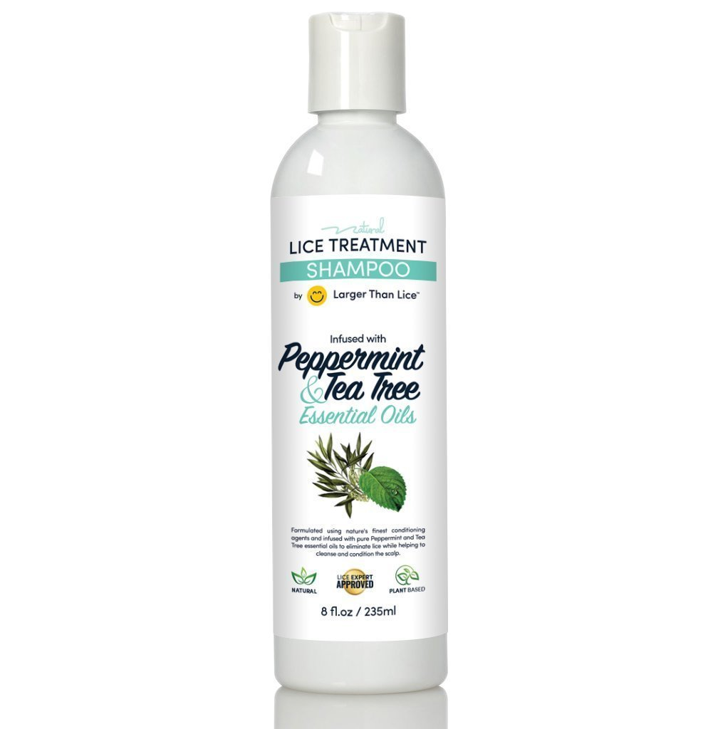 Natural Lice Shampoo and Treatment - Peppermint & Tea Tree - 100% Effective After One 15 Minute Application - Kill Head Lice, Nits - Safe for Kids & Pregnant Women's.