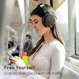COWIN E8 [Upgraded] Active Noise Cancelling Headphone Bluetooth Headphones with Microphone Hi-Fi Deep Bass Wireless Headphones Over Ear 20 Hour Playtime for Travel Work TV Computer Phone - Black