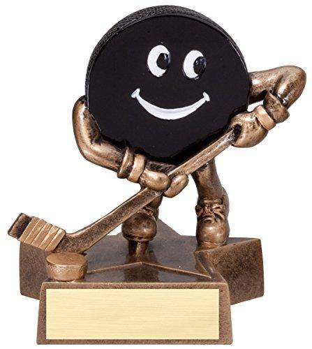 Decade Awards Hockey Lil' Buddy Trophy | Kids Hockey Award | 4 Inch Tall - Customize Now - Hockey Player Resin Trophy