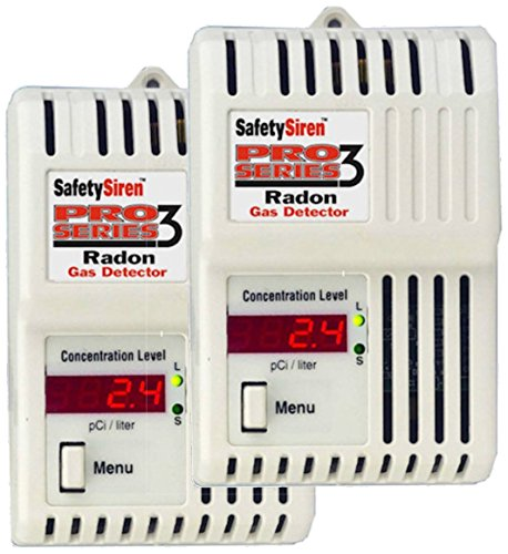 Family Safety Products 2 8910010 Safety Siren Pro Series HS71512, Radon Gas Detector (Safety Siren Pro Series3 Radon Gas Detector)