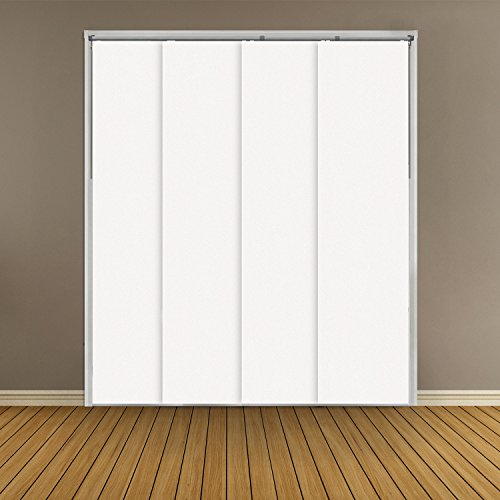 Bedroom Closet Doors (Chicology Adjustable Sliding Panels, Cut to Length Vertical Blinds, Mountain Snow (Thermal) - Up to 80