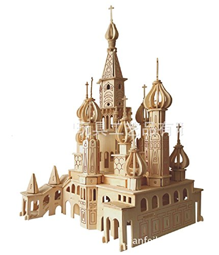 3d Building Models (Lingduan Innovative New Favorable Imaginative DIY Difficult 3D Simulation Model Wooden Puzzle Kit for Children Or Adults Artistic Wooden Toys for Children-Buildings Series Castle (492 Components))