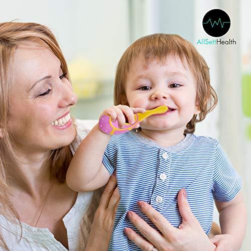 51mr%2B62p9bL - 6 Pack - Baby Toothbrush, 0-2 Years, Soft Bristles, BPA Free | Toddler Toothbrush, Infant Toothbrush, Training Toothbrush, Includes Free Toothbrush Holder