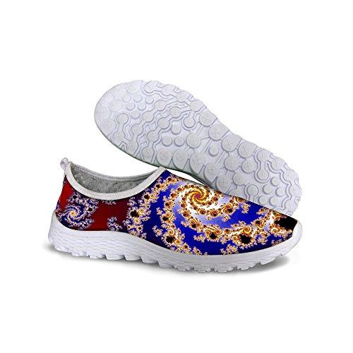 For U Design Stilige Lette Praktiske Mesh Sneaker Joggesko For Kvinner Red En