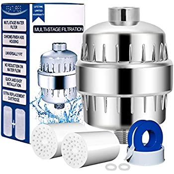 Upsimples Shower Filter, Shower Water Purifier with Replacement Cartridge, 9-Stage, Chlorine & Impurities Reduction Fit for Most Shower Head and Handheld Shower