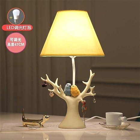 YU-K Bird lámpara de mesa lámpara de mesilla dormitorio ...