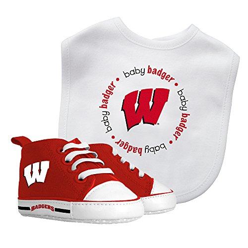 Baby Fanatic Bib with Pre-Walkers, University of Wisconsin