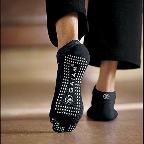 Gaiam Yoga Socks (Dot Pattern May Vary)