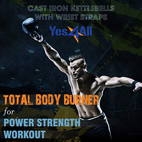 Yes4All Solid Cast Iron Kettlebell Weights Set – Great for Full Body Workout and Strength Training by Yes4All (Image #6)