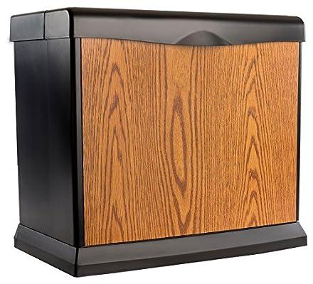 AIRCARE EA1407 Digital Whole-House Console-Style Evaporative Humidifier, Honey Oak