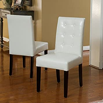 Gillian Ivory Leather Dining Chairs (Set Of 2) Part 83