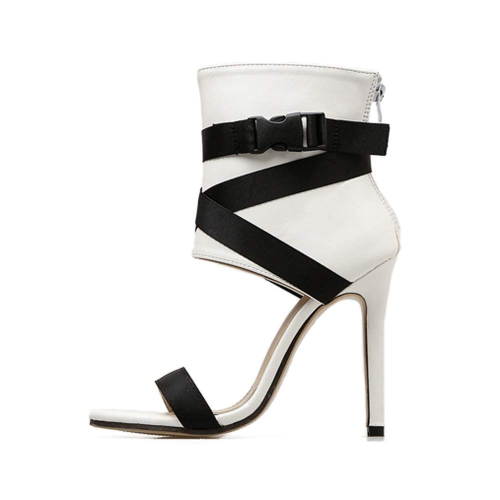 New New in HAALIFE◕‿ high Heel Sandals for Women peep Toe Platform Dress Pump Shoes Ankle Buckle Strap Platform Sandal White by HAALIFE Shoes