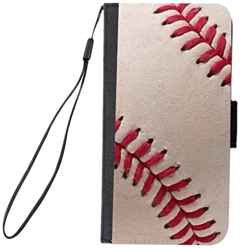 Rikki Knight Premium PU Wallet Flip Case with Kickstand and Magnetic Flap for iPhone 7 PLUS - Baseball Close (Watch Baseball Rotating)