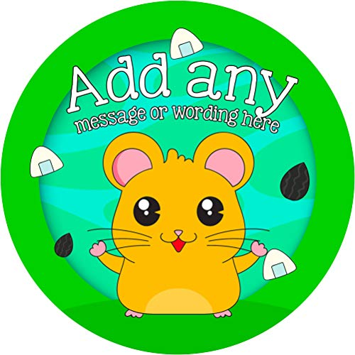 (Gerbil Sticker Labels (6 Stickers, 3.7'' Each) Personalized Seals Ideal for Party Bags, Sweet Cones, Favours, Jars, Presentations Gift Boxes, Bottles, Crafts)
