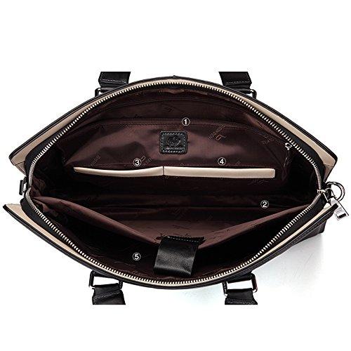 BINSON DENIM Herren Leder Aktentasche Herren Handtaschen Herren Umhängetasche Herren Laptop Tasche Hohe Qualität N2360