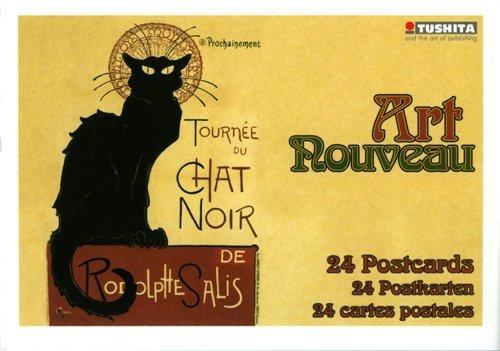 - Art Nouveau Postcard Book by Tushita postcard book