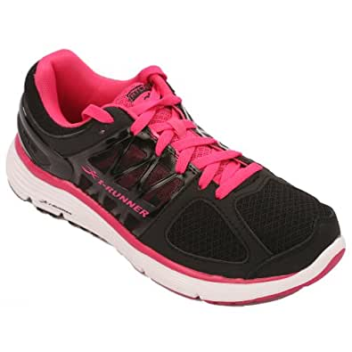 Hylan iRunner Sophia Women's Therapeutic Athletic Extra Depth Shoe Leather-and-Mesh Lace - Black and Pink -6.0 Medium (B) Black/Pink Lace US Woman