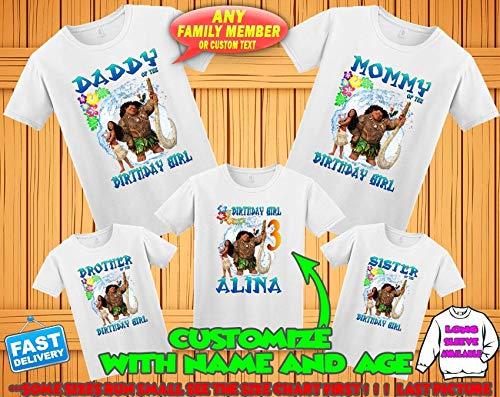 Moana Birthday Shirt Moana Matching Shirts Moana Maui Birthday Family Shirts
