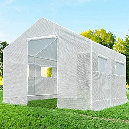 温室、 ジッパードア大型ウォークイン屋外植物ガーデニング温室フラワーガーデニングは、種子を育て