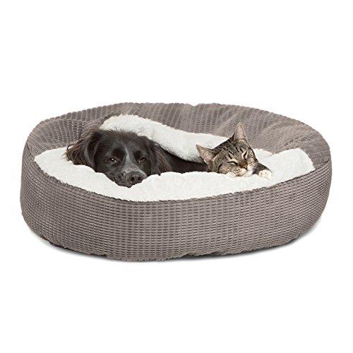 Best Friends by Sheri Cozy Cuddler in Mason Dog/Cat Bed, 26″ x 26″, Gray