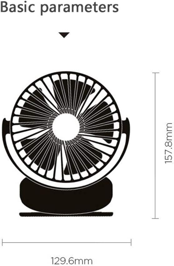 Couples Can Choose Dual-use Desktop and Clip-on USB Portable Handheld Desktop Fan LMMNFS Mini Table Fan Dormitory Bedside Silent Handheld Mini Fan Girlfriend 360-degree Rotation Up and Down