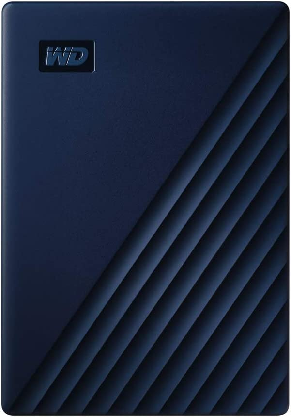 WD 4TB My Passport for Mac Portable External Hard Drive - Blue, USB-C/USB-A - WDBA2F0040BBL-WESN
