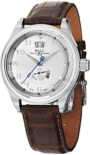 Ball Men's PM1058D-L1J-SL Trainmaster Cleveland Analog Display Swiss Automatic Brown - Cleveland Premium Outlets