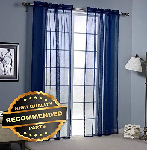 (Gatton 2 Pack Fully Stitched Sheer Window Curtain Panel Drapes 63 84 95 108 120L | Style WNDWSCURT-01120191 | 55 X 95)