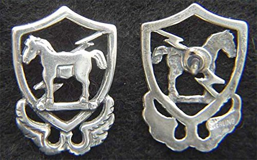 10th Special Forces 1950's beret badge Sterling Silver Tie Tack; P-2176T ()