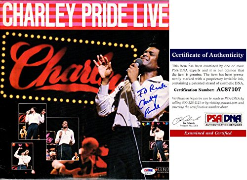 Charley Pride Signed - Autographed Album Cover with PSA/DNA Certificate of Authenticity (COA) with LP Vinyl Record Album
