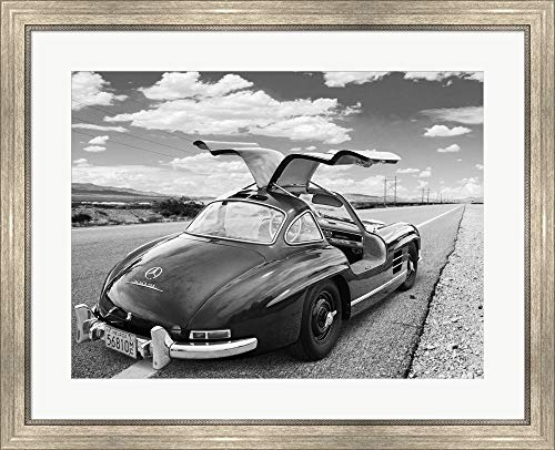Coast to Coast, Albuquerque, New Mexico by Gasoline Images Framed Art Print Wall Picture, Silver Scoop Frame, 32 x 26 inches