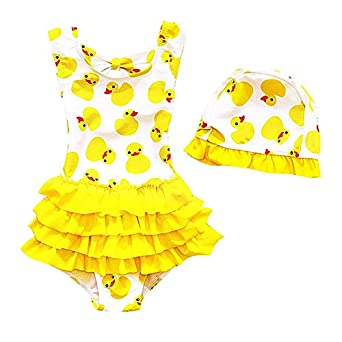 6c63559eca03 ParaCity Toddler Baby Girl Swimsuit Kid Girl One Piece Swimwear Cute Swim  Dress Swimming Costume  Amazon.co.uk  Clothing