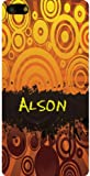Personalized iPhone 5 back cover case / skin with Alson (first name/surname/nickname)
