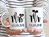 High quality ceramic mug Dishwasher safe Microwave safe Mr Mrs...