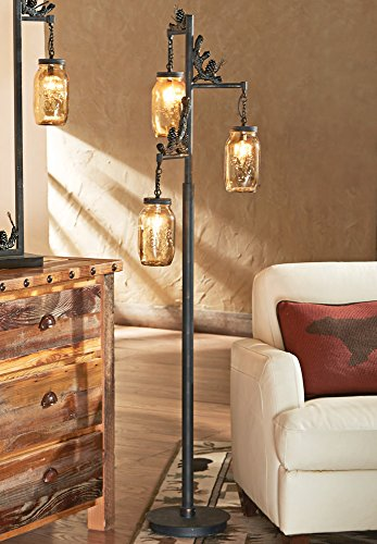 Black Forest Décor Firefly Forest Floor Lamp