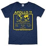Hank Player 'NASA Apollo 11' Men's T-Shirt (XXL, Heather Navy)