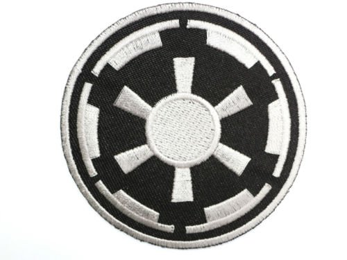 """STAR WARS Black Imperial Empire Iron On Sew On Embroidered Patch 2.9""""/7.5cm x 2.9""""/7.5cm BY MNC SHOP"""
