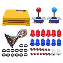 LICHO Arcade Button and Joystick DIY Kit Pandora's Box 4 645 in 1 Jamma Game Board for 2 Player Happ Arcade Buttons