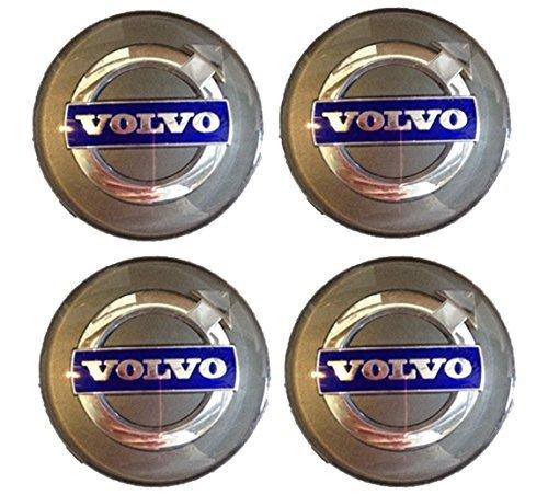 (Genuine Volvo 30671515, Silver Wheel Hub Cap Kit (Set of 4))