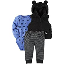 Carter's Baby Boys' 3 Piece Wilderness Print Vest Little Jacket Set