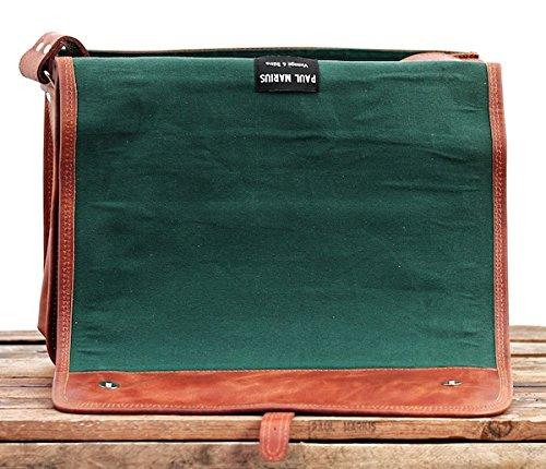 PAUL MARIUS Kuriertasche Messenger Größe L (A4) Laptoptasche Vintage-leder braun LE MESSAGER