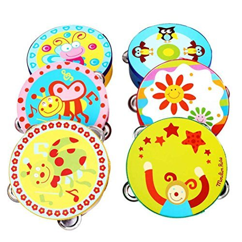 Lisingtool Toys,Kids Jingle Percussion Hand Bell Tambourine Musical Instrument Toy
