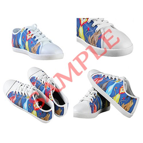 Dalliy Custom Fox Womens Canvas Shoes Schuhe Lace-Up High-Top Footwear Sneakers C