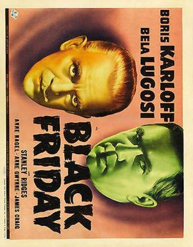 BLACK FRIDAY BORIS KARLOFF BELA LUGOSI 8X10 PHOTO #D8354