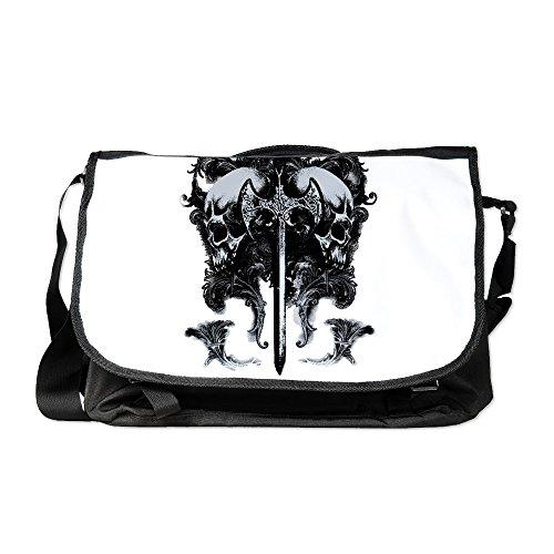 Royal Lion Laptop Notebook Messenger Bag Dragon Sword and Skulls Medieval