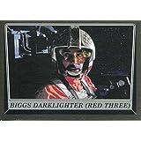 Star Wars Rogue One Mission Briefing Black Base Card #89 Biggs Darklighter (Red Three)